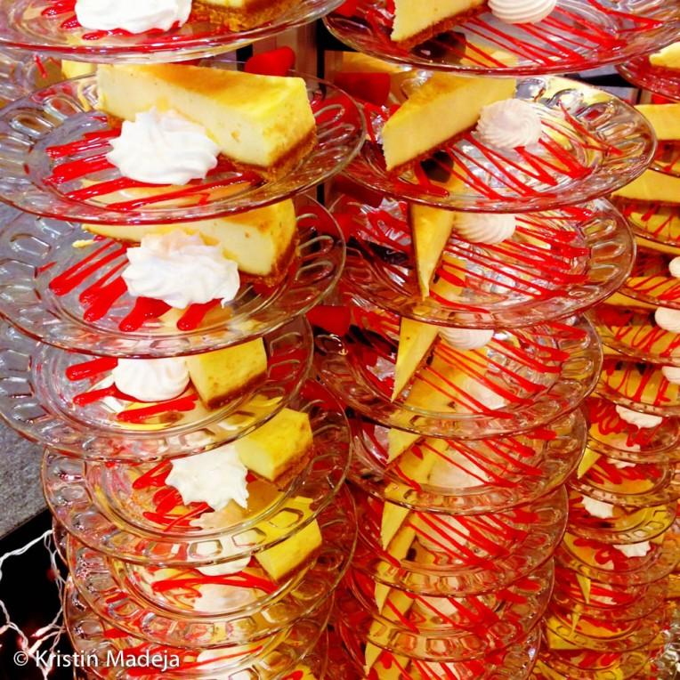 stacks of dessert